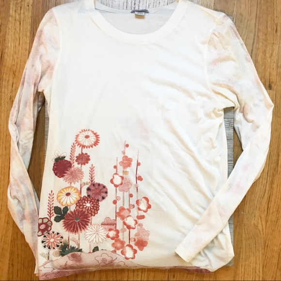 f104d6f6f Lucky Brand Tops - Lucky Brand cherry blossom print long sleeved top